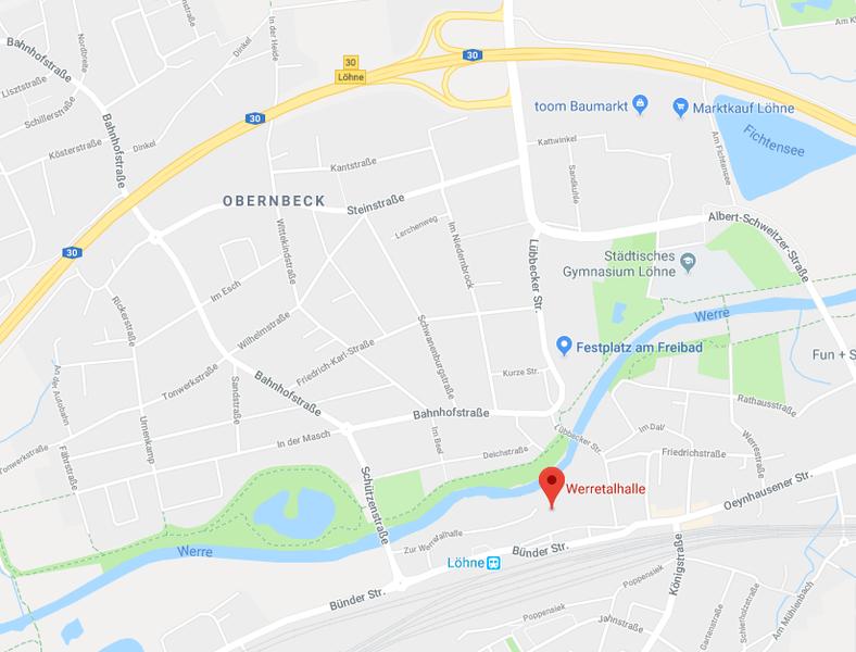 Externer Link: Routenplaner bei Google-Maps zur Werretalhalle
